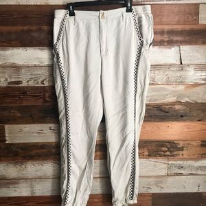 Anthropologie Lyocell Tapered Leg High-Rise Pants